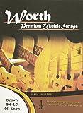 ワースストリングス Worth Strings フロロカーボン ウクレレ弦Low-Gセット ブラウン ミディアム BM-LG【NP】