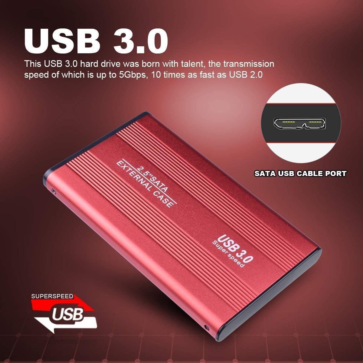 Xbox One Mac 1 TB 2 TB de disco duro ultradelgado USB 3.0 port/átil almacenamiento externo para PC 1 TB, plata Disco duro externo port/átil
