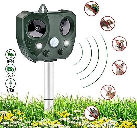 FTOFLY - Ahuyentador de Animales por ultrasonido, Repelente al Agua, Repelente para Gatos, Perros, Gatos, Granjas, jardín: Amazon.es: Jardín