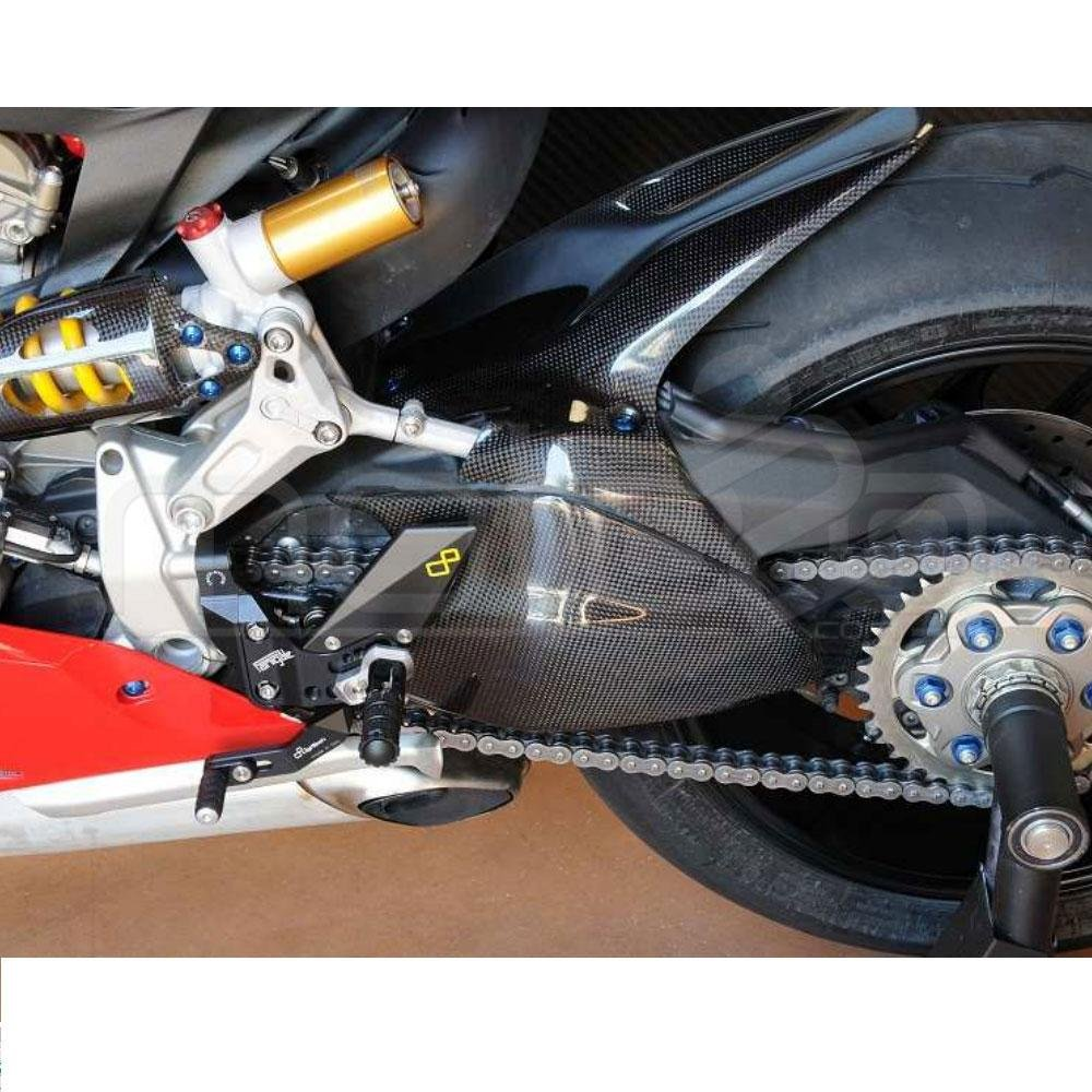 LighTech CARD1012 Polished Carbon Chain Guard