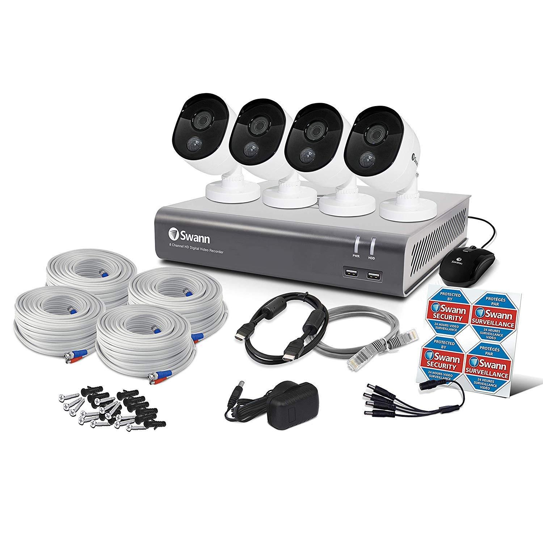 Swann 4 Camera 8 Channel 1080P Dvr Security System | 1TB HDD, Heat & Motion Sensing + Night Vision by Swann