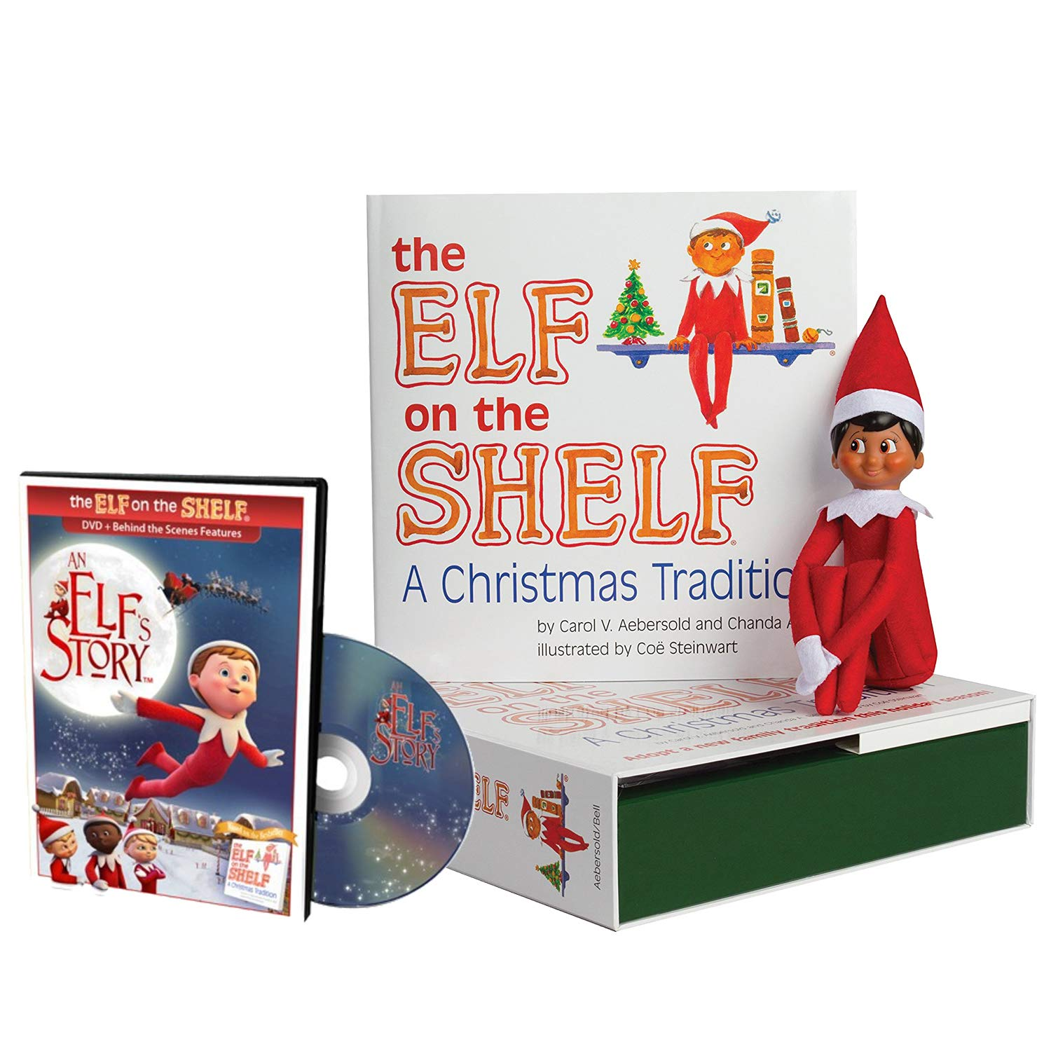 Amazon.com: The Elf on the Shelf A Christmas Tradition Brown Eyed ...