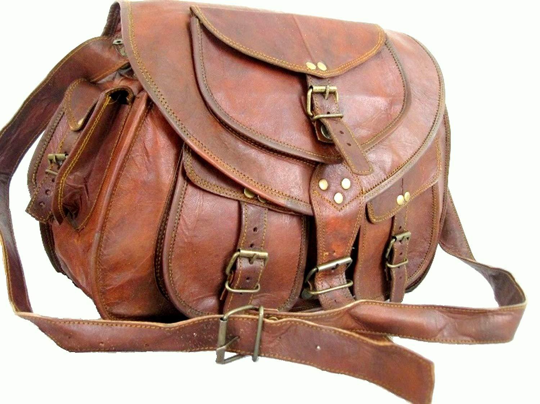 Borsa a mano vintage da donna in pelle rustica con tracolla a forma di cartella in pelle lavorata a mano da 33