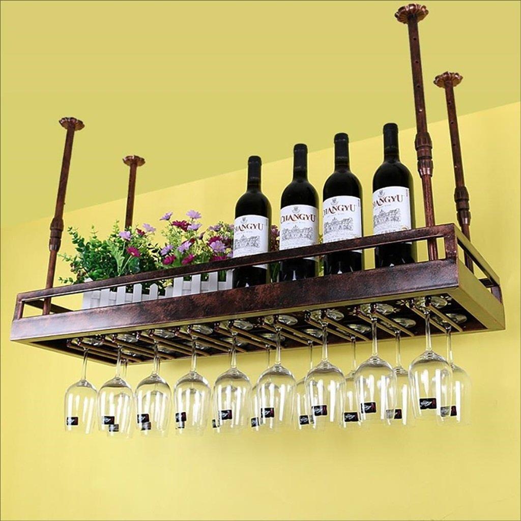 ワインホルダー ワイングラスラック、レトロシェルフワイングラスホルダーアイアンアートワイングラスラックサスペンションワイングラスラックシャンパングラスラックガラスラック (色 : ブロンズ, サイズ さいず : 50*35cm) B07F8QXSB6 50*35cm|ブロンズ ブロンズ 50*35cm