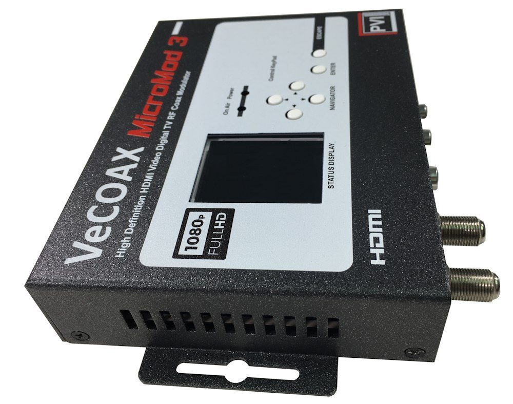 PVI VECOAX MICROMOD MS A Single Channel HD Digital AIR ATSC RF Modulator