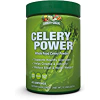 Garden Greens Celery Power Organic Celery Juice Powder, Unflavored, Organic, Supports Healthy Digestion, 11.3 Oz. (40…