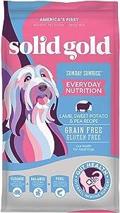 Solid Gold - Sunday Sunrise Lamb, Sweet Potato & Pea Recipe - Grain Free & Gluten Free - Dry Dog Food