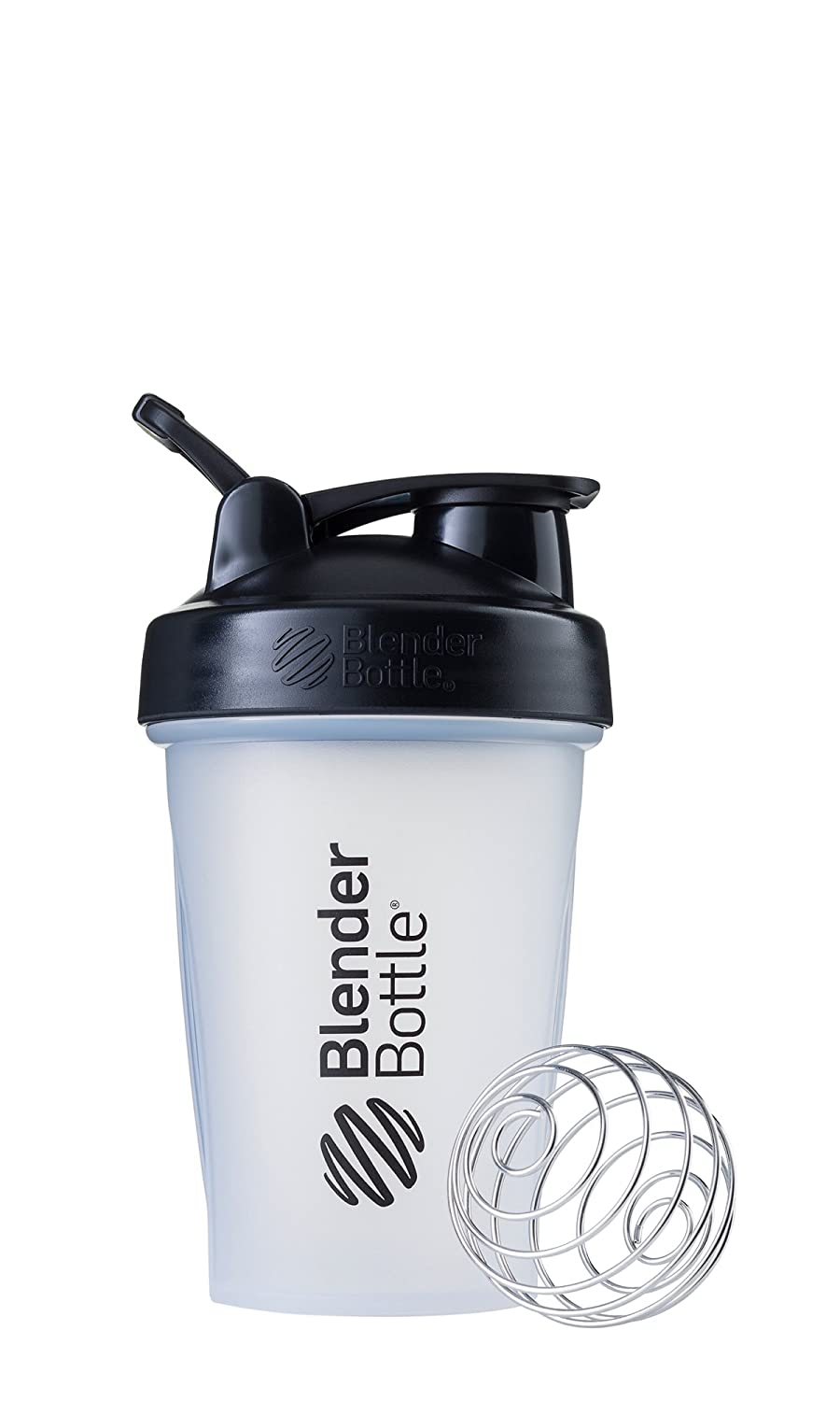 BlenderBottle Classic Loop Top Shaker Bottle, 20-Ounce, Clear/Black/Black