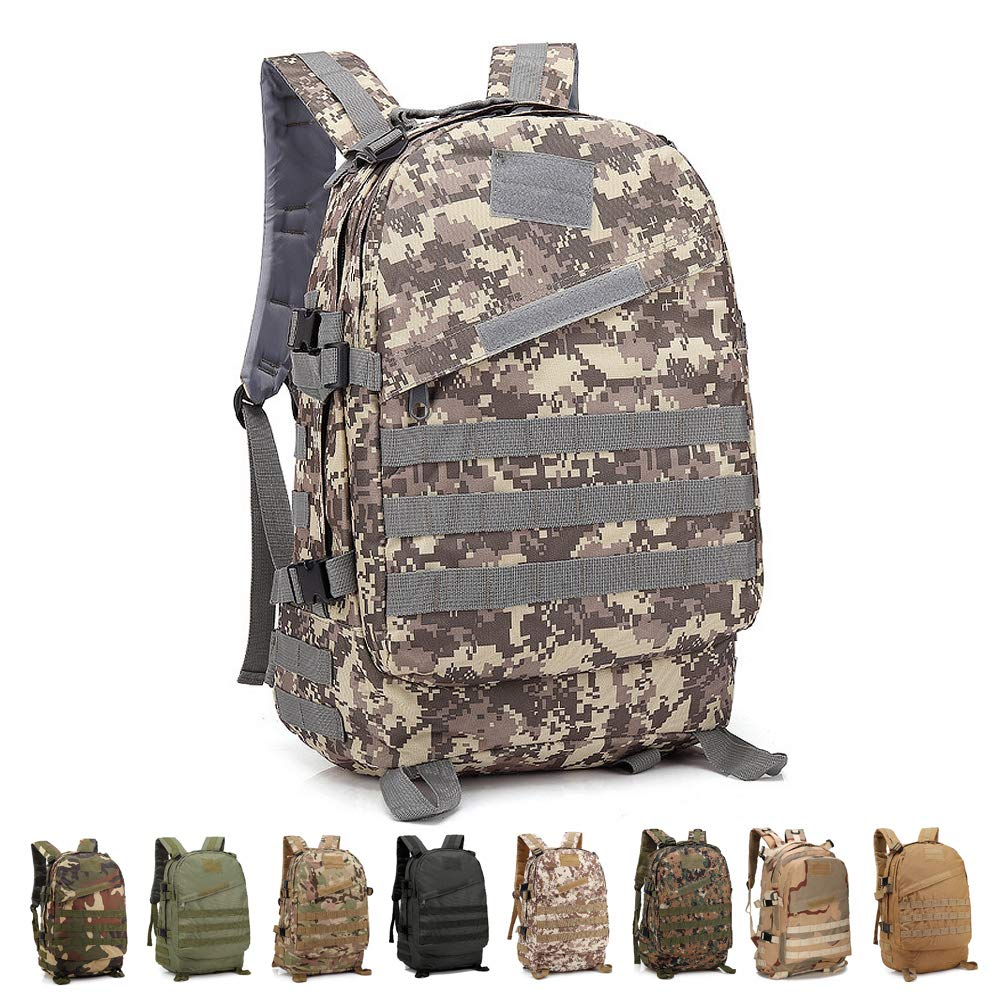 4eac7c330c5 Risefit Military Tactical Backpack Army Style Rucksack, 40L Fishing  Rucksacks for Camping, Hiking,