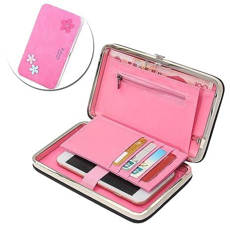 Phone Wallet Clutch para Mujer, Vandot Gran Capacidad Largas PU Cuero Embrague Cartera del Teléfono Móvil, ...