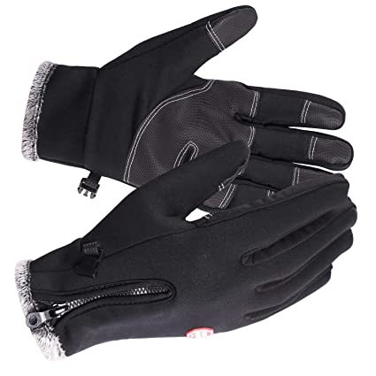 Thin Fleece Anti-Slip Palm Touch REDCAMP Touchscreen Winter Gloves Windproof