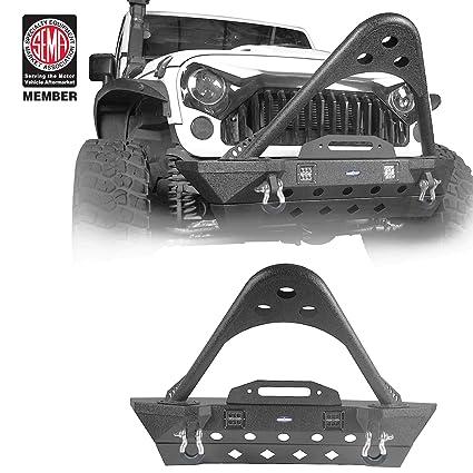 Jeep Wrangler Front Bumper w/ Winch Plate w/ Stinger Rhinoceros - Stubby  (Jeep Wrangler JK 2007-2018)