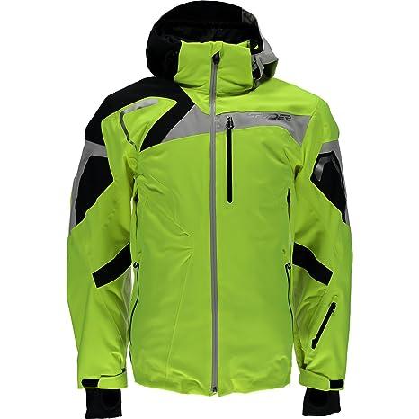 Spyder Men s Titan Winter Jacket Bryte Yellow Black Cirrus Size X-Large 9d47003b0a2