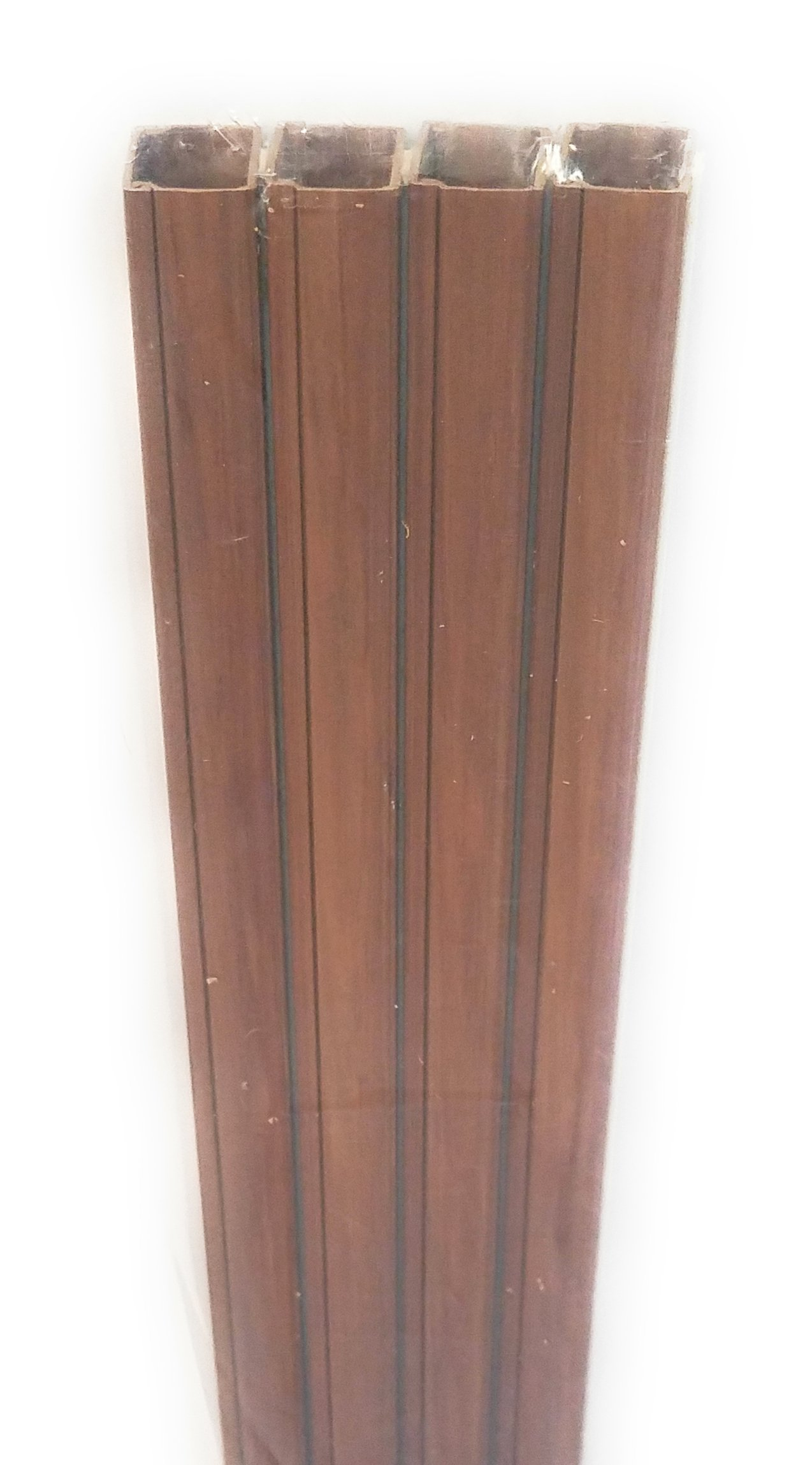 10 ft Trunking Cable Raceway with adhisive Kit 0.63x0.98 Cord Organizing - Brown Wood Look