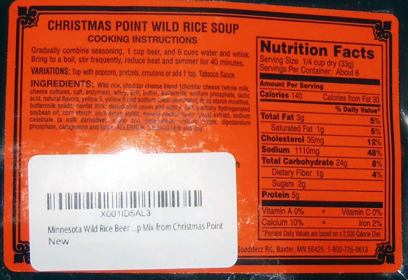 Christmas Point Baxter.Amazon Com Christmas Point Wild Rice Soup Variety Pack Of