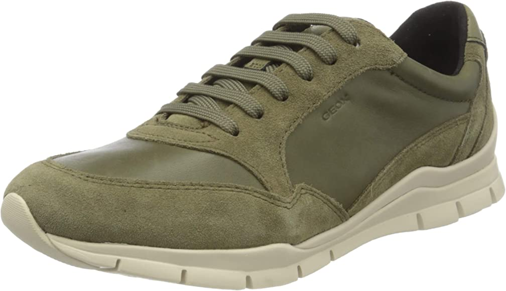 Geox Women's Low-Top Trainers, Olive