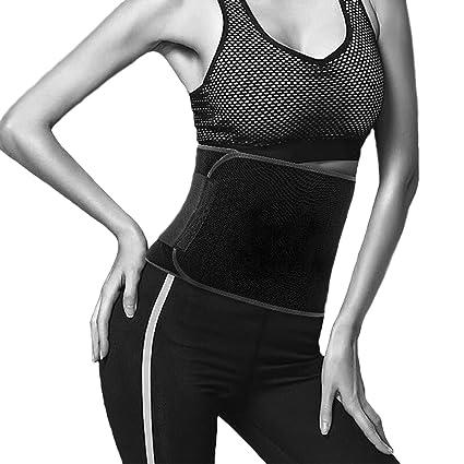 46b936a0f7 Amazon.com   Sweat Waist Trimmer for Women Men