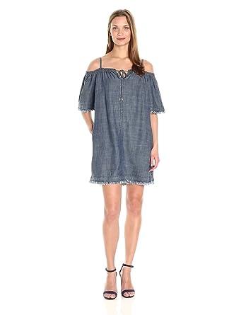 97817ef006cc Amazon.com: Trina Turk Women's Chill Crosshatch Chambray Dress ...
