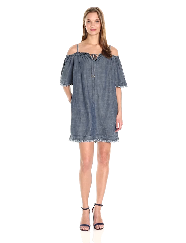 fe100239f99f Amazon.com: Trina Turk Women's Chill Crosshatch Chambray Dress, Indigo M:  Clothing