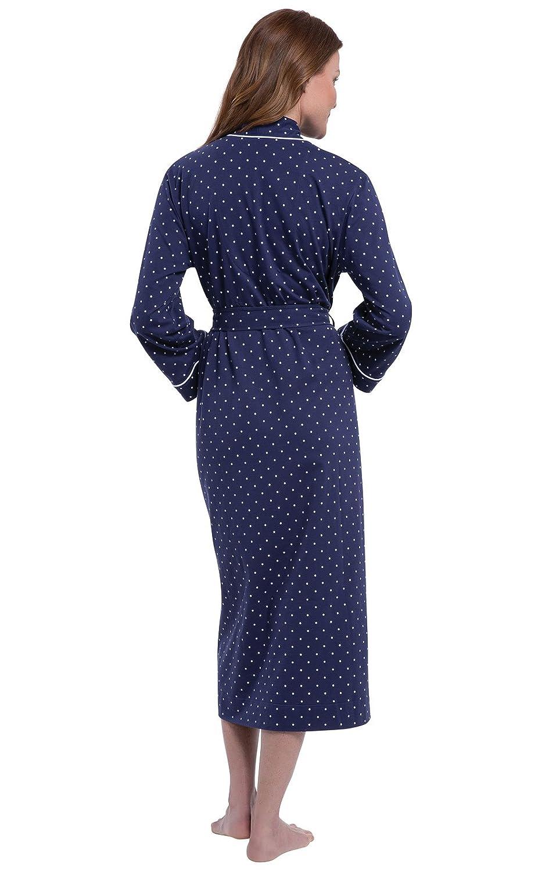 PajamaGram Long Womens Cotton Robes Soft Robe Womens