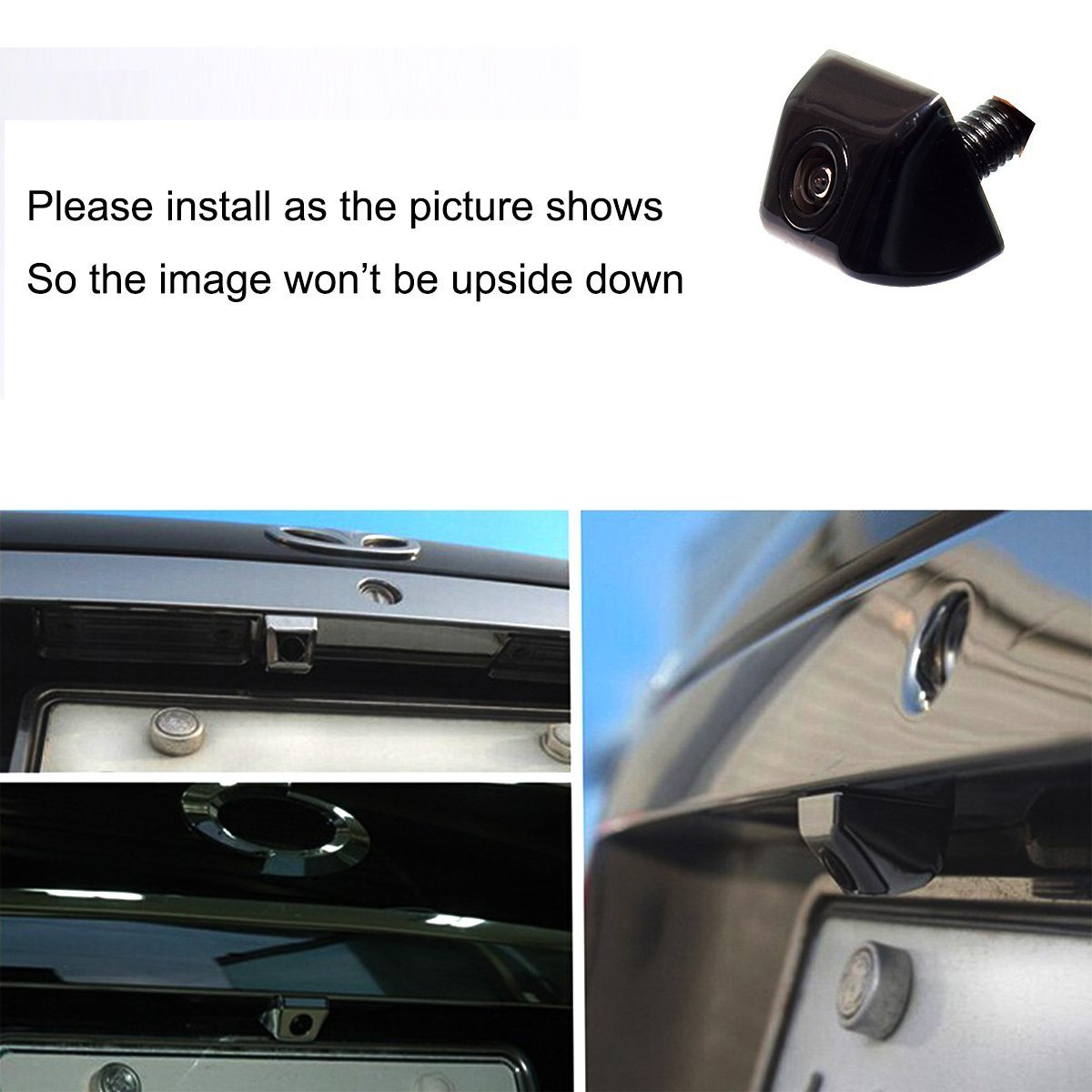 EKYLIN Car Auto Flush Mount Housing HD Rear View Multi-Functional Backup//Front Camera Waterproof 980-ML
