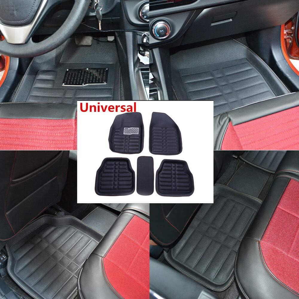 5Pc Universal Black Car Floor Mats FloorLiner Front/&Rear Carpet All Weather Mat