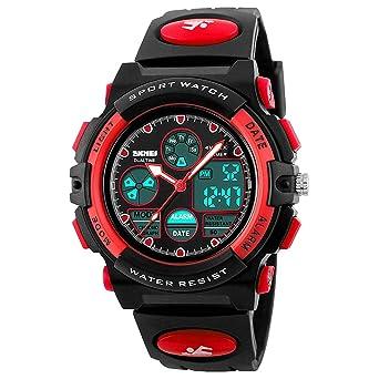 Amazon.com: Relojes infantiles impermeables deportivos con ...