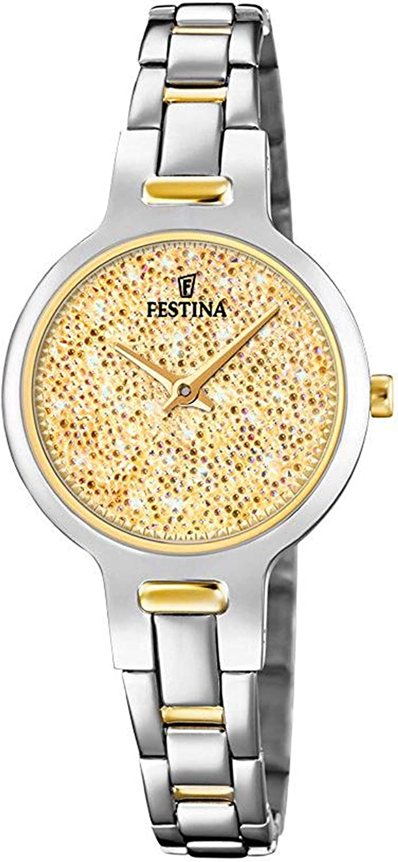 Festina Watches Reloj para Mujer Analógico de Cuarzo con Brazalete de Acero Inoxidable F20380/2
