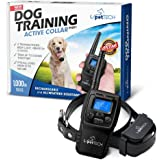 PetTech PT0Y1 Dog Training Shock Collar, Rechargeable and Weather Resistant, 1000 ft Range