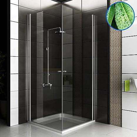 Completo cabinas de ducha Ducha Mampara 80 x 80 x 195 Incluye cristal los arañazos entrega gratuita para puerta de ducha esquina. Baño esquina cabinas de ducha: Amazon.es: Bricolaje y herramientas