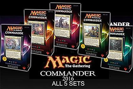 Amazon.com: Commander 2016 MTG Magic The Gathering SET OF ALL 5 ...
