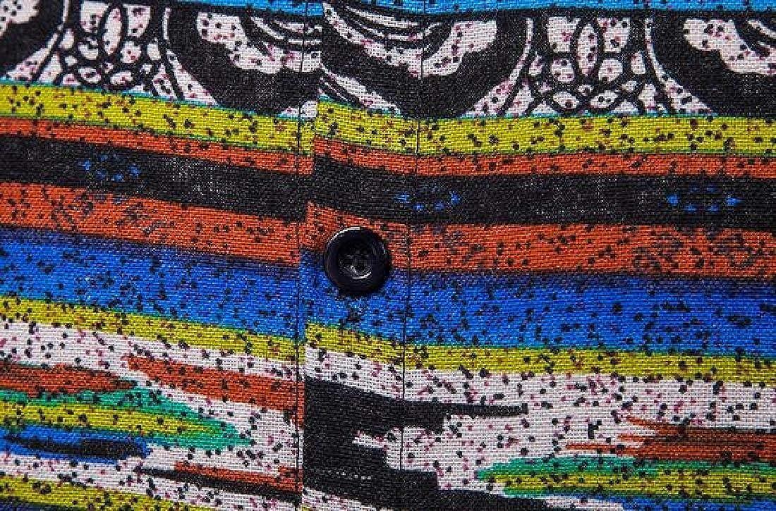 Fubotevic Mens Loose Mid Length African Print Long Sleeve Casual Shirts