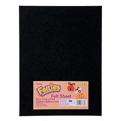 Darice Felties Felt Sheet Black 9 x 12 inches (5-Pack) FLT-0032: Arts, Crafts & Sewing