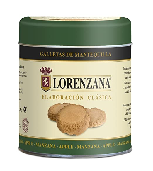 Lorenzana - Galleta de Mantequilla Manzana - Lata 6 Unidades