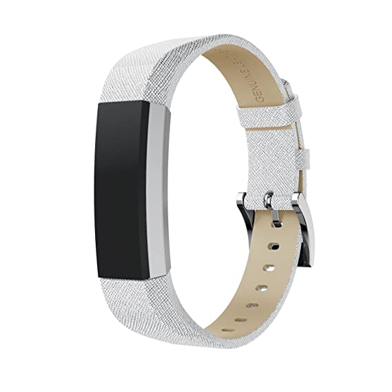Genuine Leather Stainless Steel Replacement Band Bracelet For Fitbit ALTA HR NEW