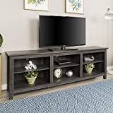 New 70 Inch Wide Television Stand in Charcoal Finish