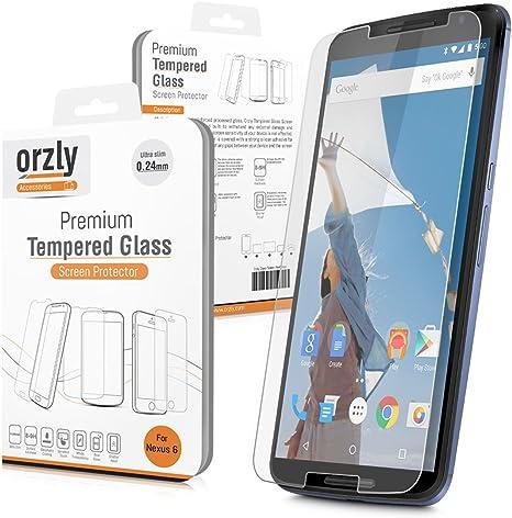 Orzly® - NEXUS 6 - Prima Cristal Templado Protector de Pantalla ...