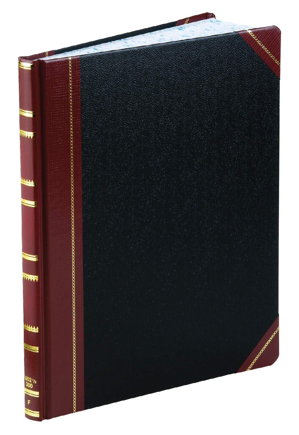 Boorum & Pease 1602123F Record Ruled Book, Black Cover, 300 Pages, 10 1/8 x 12 1/4