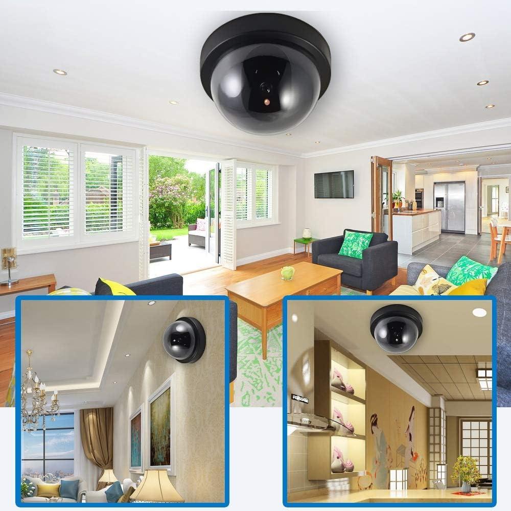 Cam/éra De S/écurit/é Factice D/ôme Infrarouge Surveillance sans Fil CCTV Cam/éra Fausse Cam/éra De Simulation De Plein Air