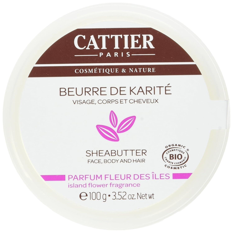 Cattier manteca de karité perfume Fleur des Iles, 100g 27980