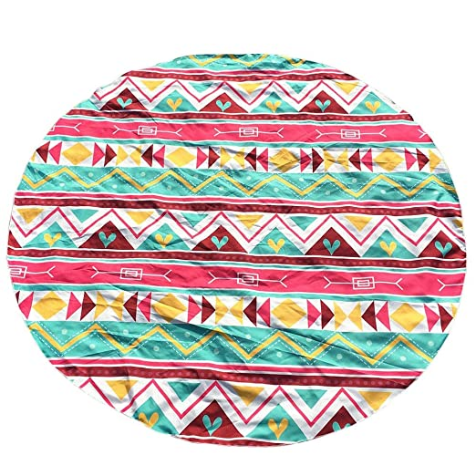 Amazon.com: Salaks Yoga Mat Beach Towel Blanket Round Geometric Hippie Tapestry Picnic Throw Table Cloth: Clothing