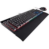 Corsair K55 (Rubber Dome, Multi-Colour RGB Backlit) Gaming Keyboard and Harpoon RGB Gaming Mouse - Black