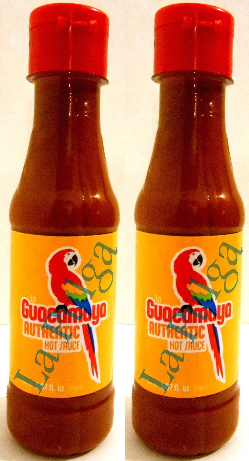 2 - La Guacamaya Authentic Hot Sauce Bottle Mexican Hot Sauce Salsa 5.07 oz Each