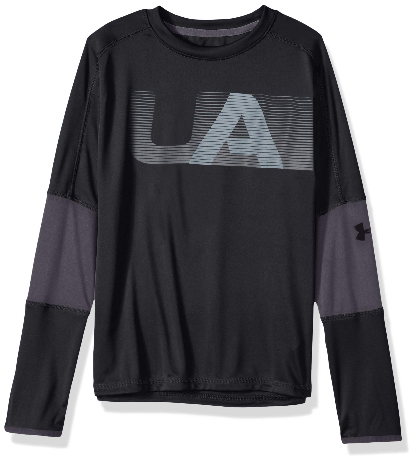 Under Armour Boys Tech Long sleeve Tee, Black (001)/Black, Youth X-Large by Under Armour