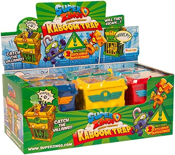 SUPERZINGS Conjunto Completo Box 6 Kaboom Trap con Figuras exclusivas Original Super Zings Rivals of Kaboom: Amazon.es: Juguetes y juegos