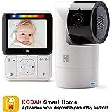 """Baby monitor video KODAK CHERISH C225 — Telecamera ad alta risoluzione PTZ (Pan-Tilt-Zoom), display HD da 2.8"""", audio bidirezionale, visione notturna, portata a lungo raggio"""