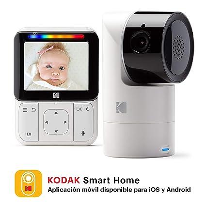 KODAK CHERISH C225 — Cámara Vigilabebe de alta definición con WiFi y App móvil, monitor