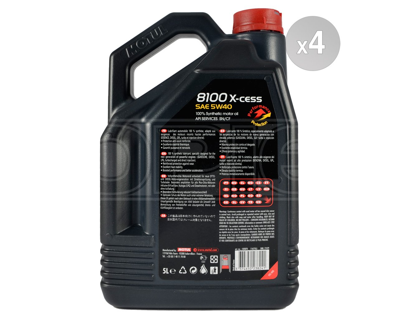 Amazon.com: Motul 102870-4 8100 X-Cess 5w40 Oil Case/4-5 Liters: Automotive