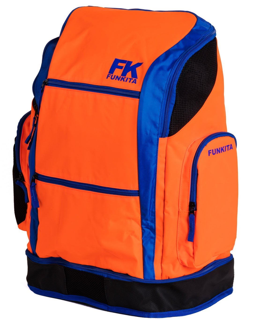 durable modeling Funkita Sports Swim Fitness School Training Backpack  Rucksack Bag - Orange Blue 3b705c1a05