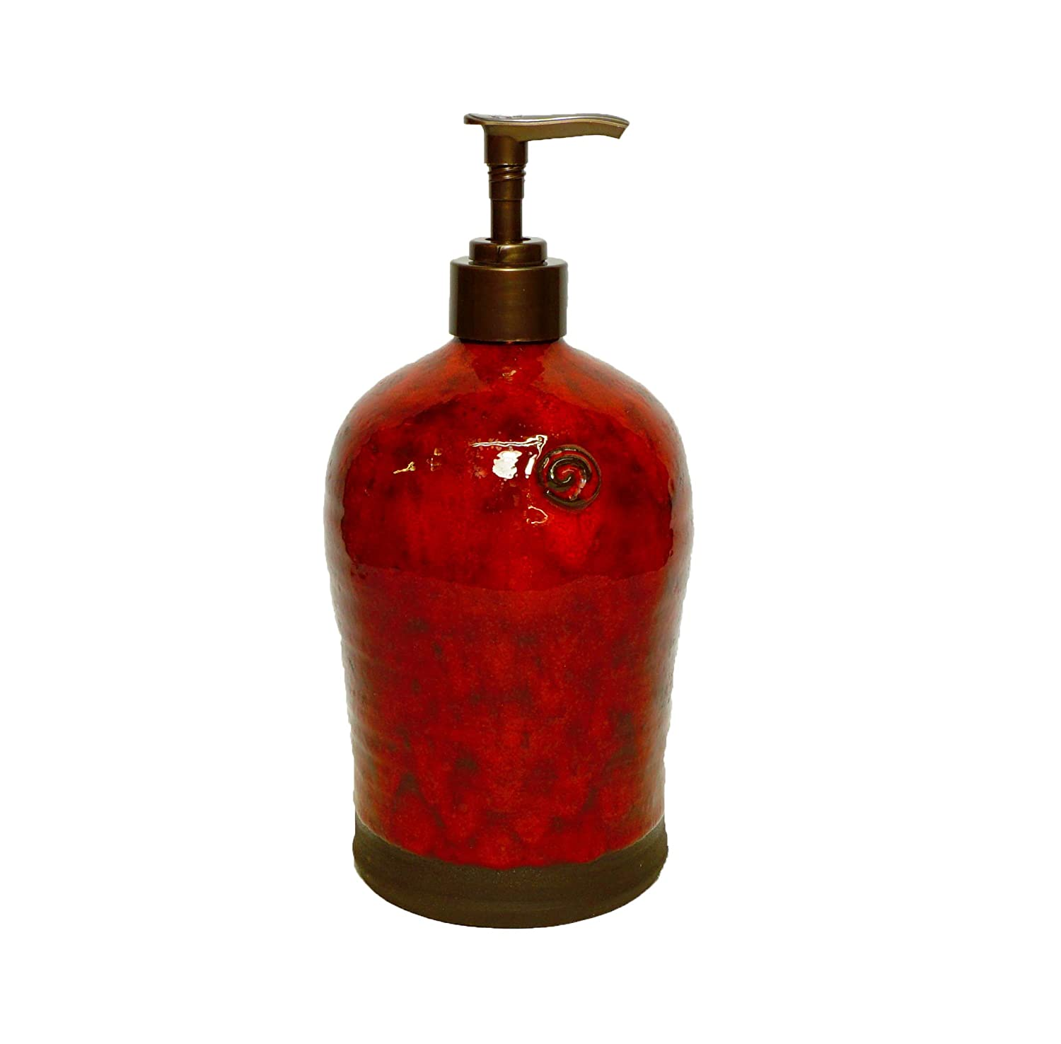 Amazon Com Ceramic Soap Dispenser Deep Red Liquid Soap Bottle Kitchen Soap Pump Handmade Soap Dispenser Rustic Pottery Moms Gift Handmade